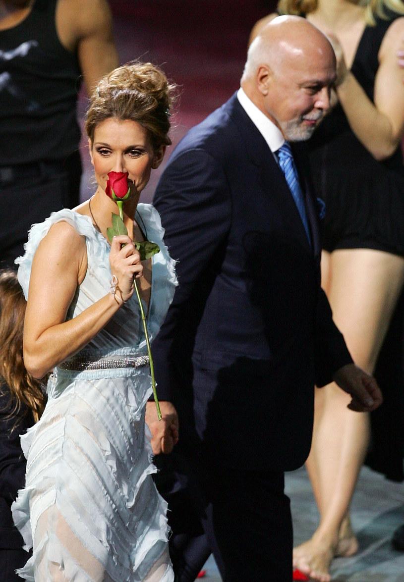 Celine Dion z mężem /Ethan Miller /Getty Images
