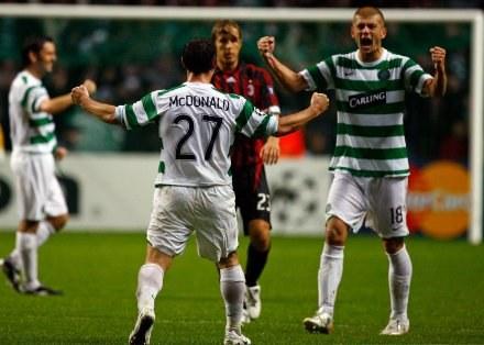Celtic sensacyjnie pokonał Milan 2:1 Fot. Jeff J Mitchell/Getty Images /