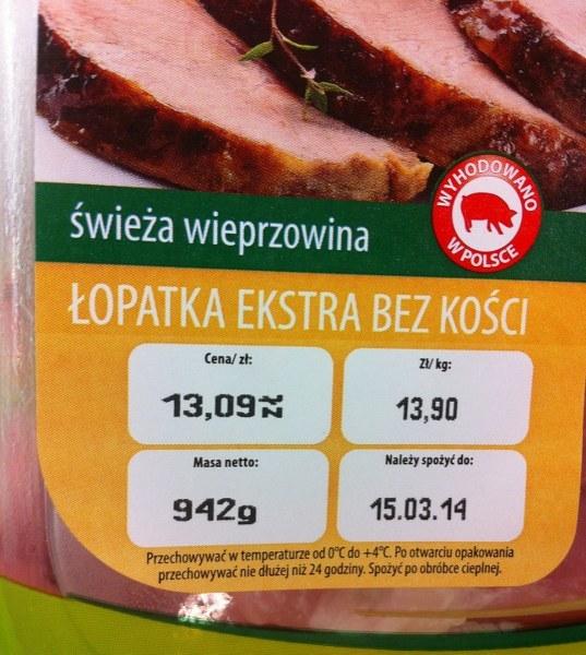 Cena za łopatkę wieprzową /Tomasz Staniszewski /RMF FM