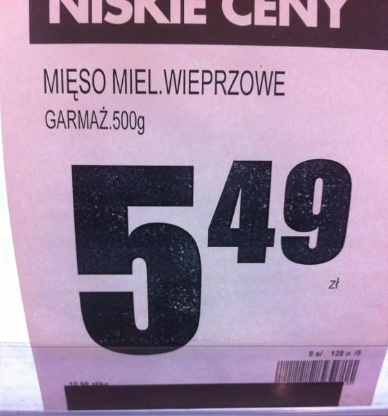 Cena za mięso mielone wieprzowe /Tomasz Staniszewski /RMF FM