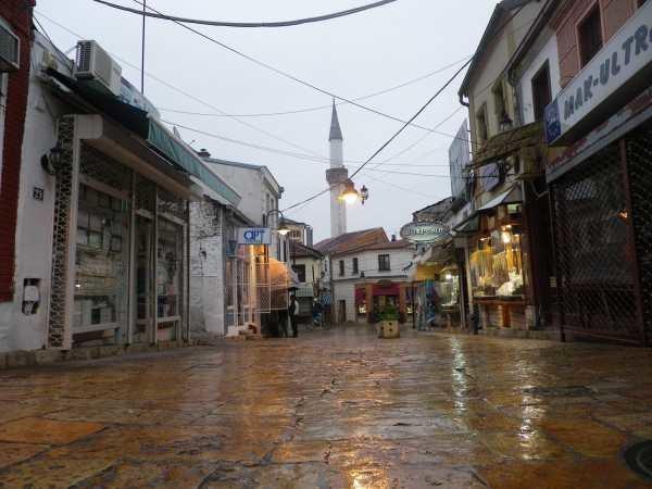 """Centrum """"albańskiego Skopje""""/Fot. Ziemowit Szczerek /INTERIA.PL"""