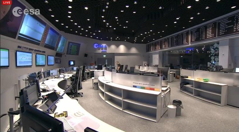 Centrum Kontroli lotów ESA /materiały prasowe