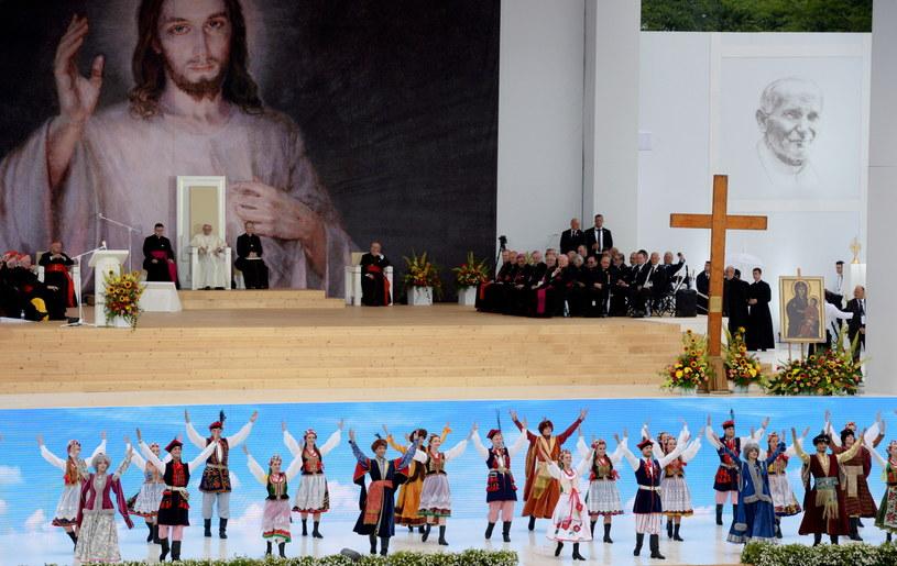 Ceremonia powitania ojca świętego /Jacek Turczyk /PAP