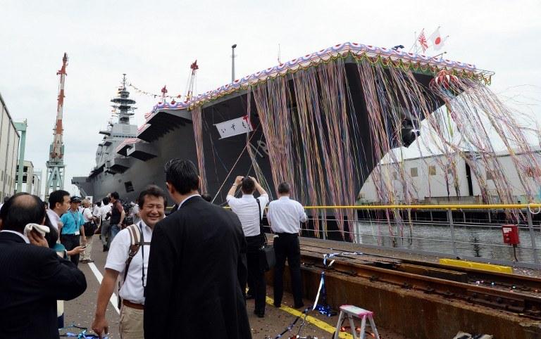 Ceremonia wodowania DDH183  Izumo w porcie w Jokohamie /AFP