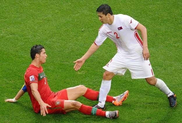 Cha Jong-Hyok i Cristiano Ronaldo /AFP