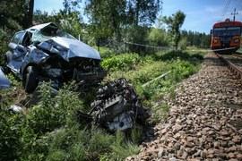 Chabówka: Zderzenie samochodu z pociągiem