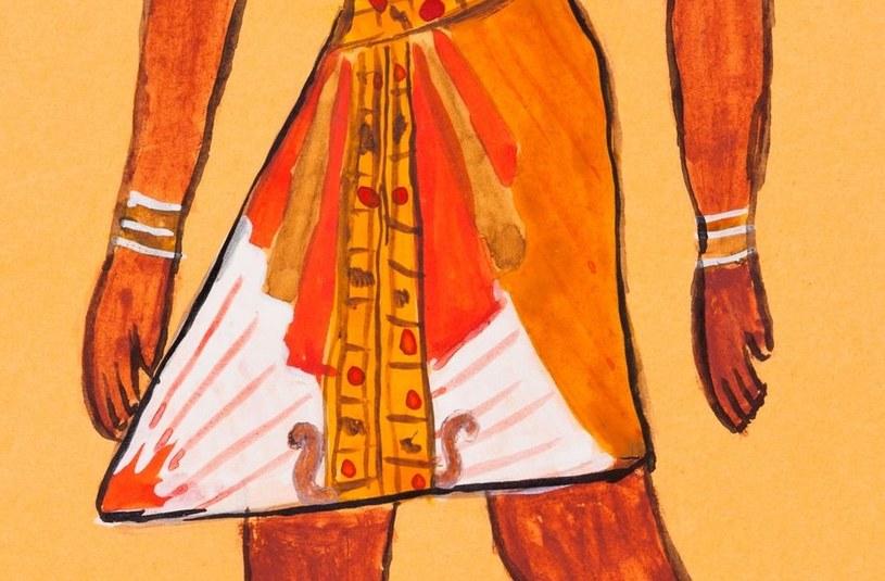 Charakterystyczna egipska sukienka - codzienny strój faraona /©123RF/PICSEL
