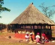 Charakterystyczne domy mieszkańców Zimbabwe /Encyklopedia Internautica