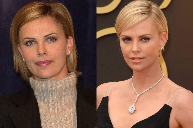 Charlize Theron - rok 2000 i 2014 /Getty Images