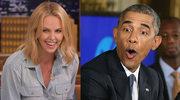 Charlize Theron zaprosiła Obamę na striptiz! Co on na to?