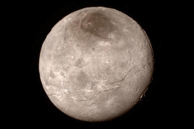 Charon - zdumiewająco odmienny w porównaniu z Plutonem /NASA