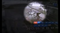 Chciał ukraść rower, upadł na twarz