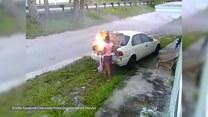 Chciała się zemścić na swoim chłopaku, ale… podpaliła nie ten samochód
