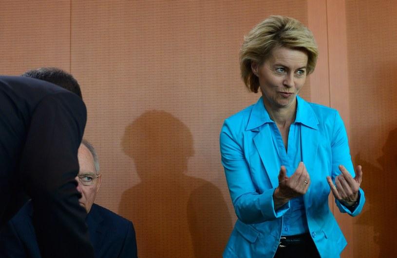 Chęć zatrudnienia absolwentów hiszpańskich uniwersytetów wyraziła niemiecka minister pracy, Ursula von der Leyen /AFP