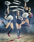 Cheerleaderki z Gdyni przygotowują się do meczu NBA