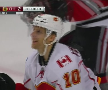 Chicago Blackhawks - Calgary Flames 2-3 po karnych. Wideo