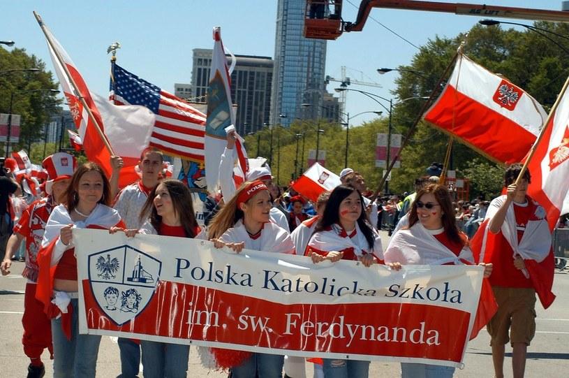Chicago - coroczna parada z okazji rocznicy uchwalenia Konstytucji 3 Maja /Piotr Batorowicz /Reporter