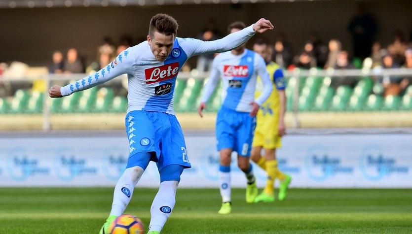 Chievo Werona - SSC Napoli 1-3 w meczu 25. kolejki Serie A. Gol Piotra Zielińskiego