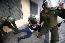 Chile: Starcia studentów z policją