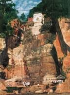 Chińska sztuka: posąg Buddy, Leshan /Encyklopedia Internautica