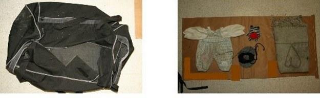 Chłopczyk został znaleziony w torbie podróżnej /Policja