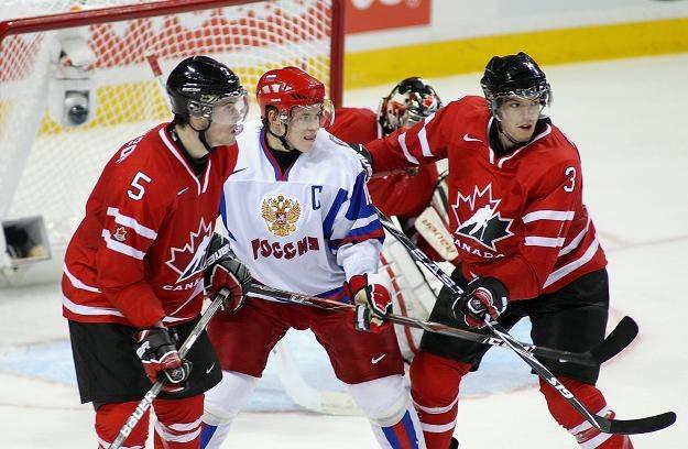 Chociaż Kanadyjczycy starali się jak mogli, nie zdołali powstrzymać Rosjan /AFP