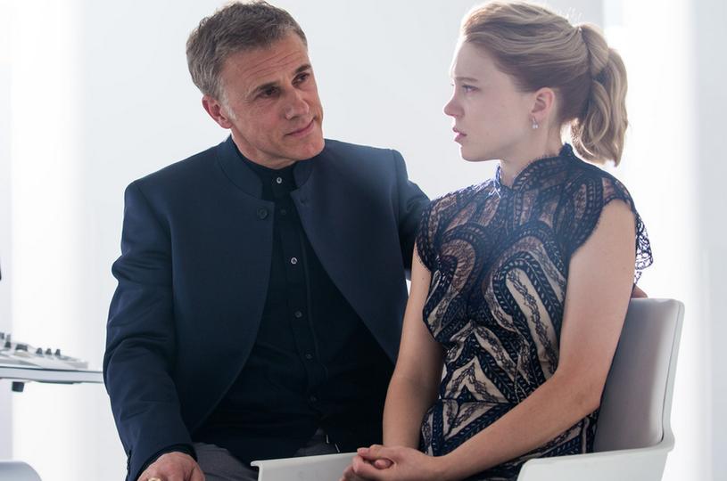 """Christoph Waltz i Lea Seydoux w filmie """"Spectre"""" /Forum Film /materiały dystrybutora"""