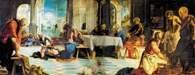 Chrześcijaństwo: Tintoretto, Obmywanie stóp, 1547 /Encyklopedia Internautica