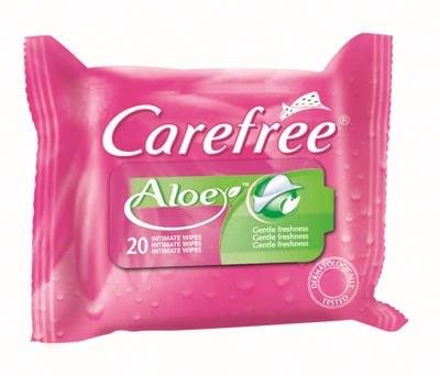 Chusteczki Carefree Aloe /materiały prasowe