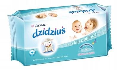 Chusteczki Cleanic dzidziuś Skin Balance /materiały prasowe