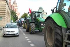 Ciągniki zablokowały ulice Szczecina
