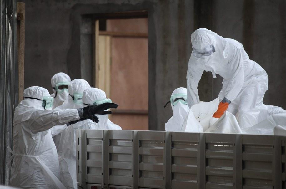 Ciała zmarłych na Ebolę w Liberii przygotowane do pogrzebów //AHMED JALLANZO /PAP/EPA