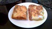 ciasto bezowe z jabkami.