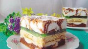 "Ciasto ""puszysta Hrabina"" z galaretką"