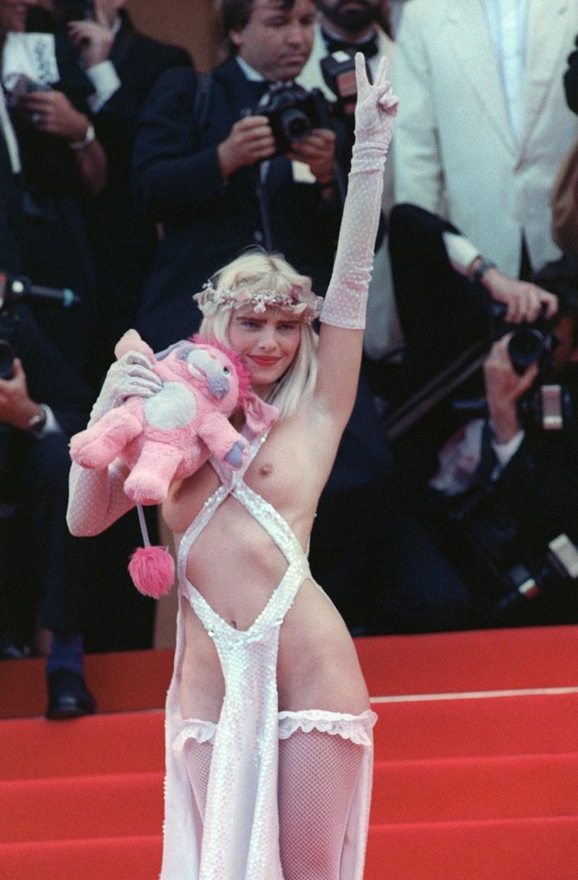 Cicciolina na festiwalu filmowym w Cannes w 1988 roku /AFP /East News