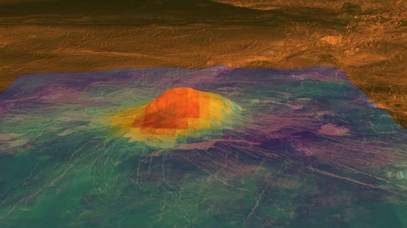 Ciepłe miejsca na powierzchni Wenus to objaw aktywności wulkanicznej? /materiały prasowe