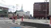 Ciężarówka wjechała w ludzi na ulicy w centrum Sztokholmu