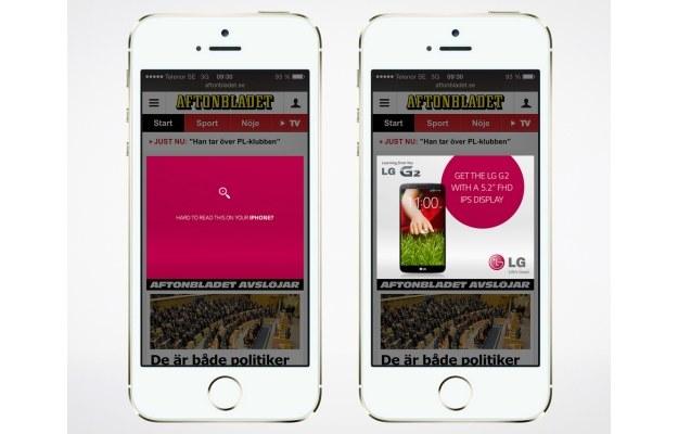 Ciężko to przeczytać na twoim iPhonie? Sięgnij po LG G2 z 5,2-calowym ekranem FullHD.   fot. omegadroid.co /materiały prasowe
