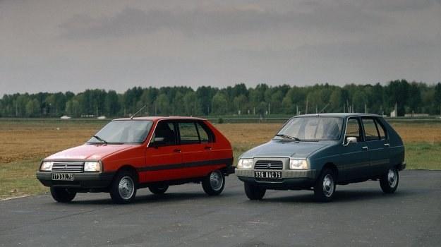 Citroen Visa - wersja sprzed faceliftingu (z prawej, 1978 r.) i po modernizacji (z lewej, 1982 r.). /Citroen