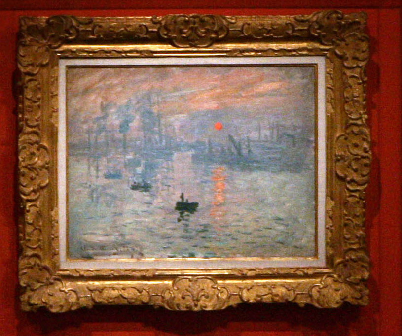 "Claude Monet ""Impresja, wschód Słońca"" (1872) /AFP"