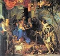 Claudio Coello, Adoracja Dzieciątka Jezus przez św. Ludwika, 1665-68 /Encyklopedia Internautica