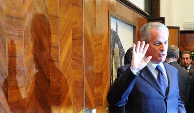 Claudio Scajola, były włoski minister spraw wewnętrznych i rozwoju gospodarczego. /AFP