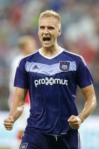 Club Brugge - Anderlecht Bruksela 2-1. Gol Łukasza Teodorczyka
