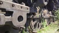 """""""Cmentarzysko"""" sowieckich pociągów. Niezwykłe nagranie z lotu ptaka"""