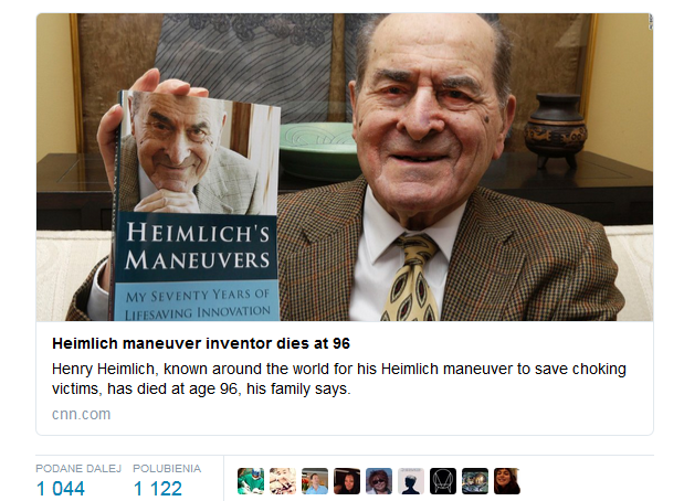 CNN o śmierci słynnego lekarza /Twitter