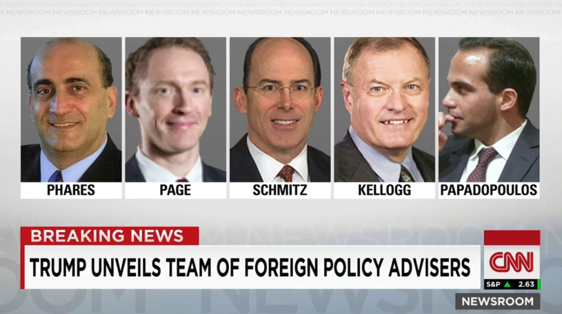 CNN: Trump ujawnia zespół doradców ds. polityki zagranicznej. Wśród nich Papadopoulos (arch.) /Twitter