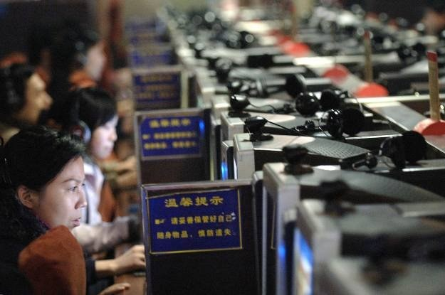 Co prawda w Chinach nie brakuje użytkowników internetu - więcej sprzętu mają bogatsze kraje /AFP