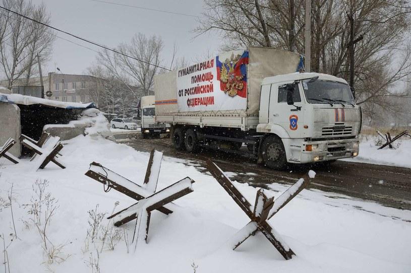 Co tak naprawdę jest w rosyjskich ciężarówkach? /AFP