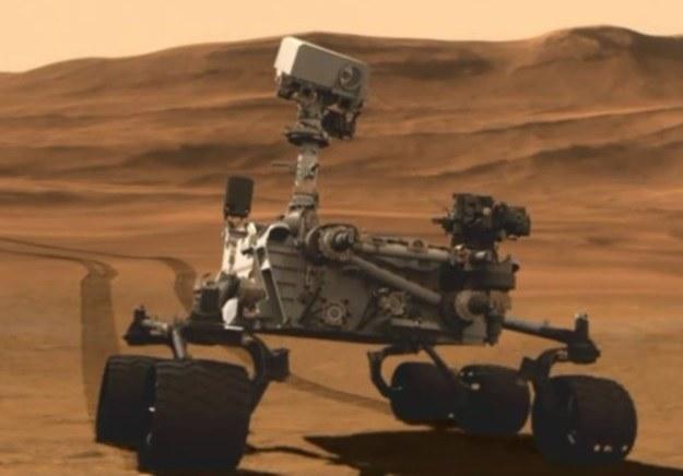 Co tym razem sfotografował na Marsie łazik Curiosity? /materiały prasowe