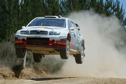 Colin McRae na trasie Rajdu Australii.  12 listopad 2005 / kliknij /AFP